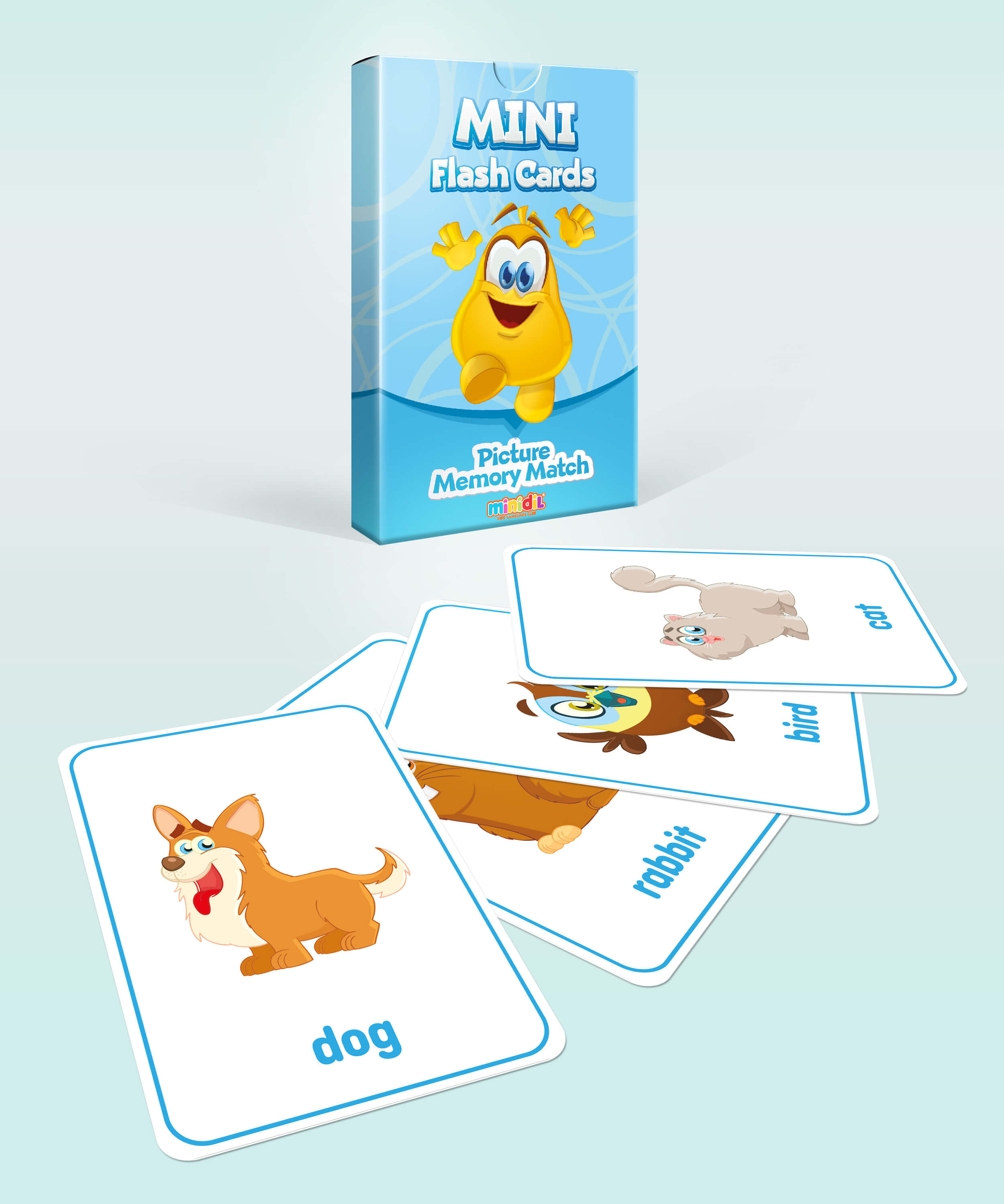Mini Flash Cards-Animals